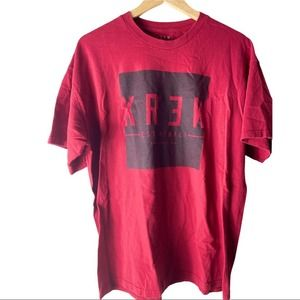 KREWE Graphic print red Short sleeve shirt X-large
